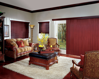 Crosswinds Wood Vertical Blinds